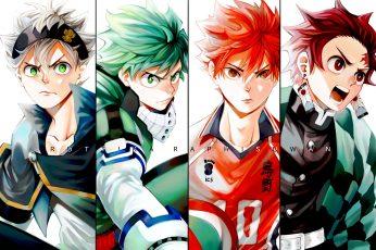 Wallpaper Anime, Crossover, Asta Black Clover, Izuku