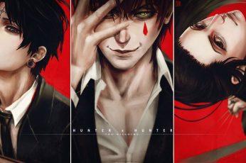 Wallpaper Anime, Illumi, Hunter X Hunter, Hisoka, Chrollo