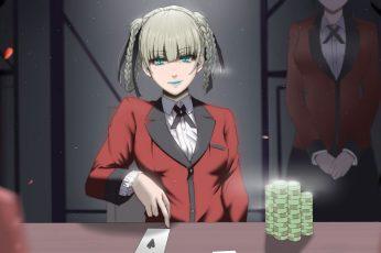 Wallpaper Anime, Kakegurui, Kirari Momobami