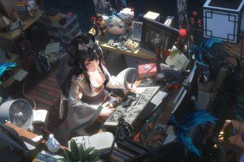 Wallpaper Anime, Original, Girl, Onmyoji, Room