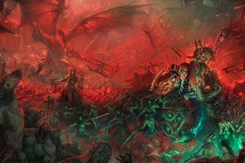 Wallpaper Army, Warhammer, Chaos, Demons, Barbarian