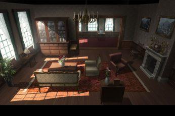Wallpaper Artwork, Anime, Room, Interior