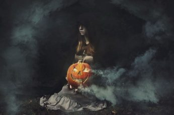 Wallpaper Artwork, Fantasy Art, Halloween, Pumpkin, Women