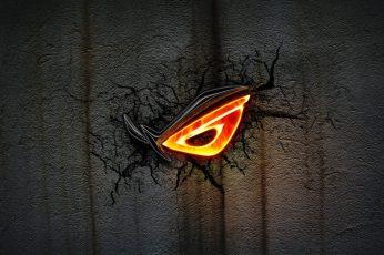 Asus Rog Wallpaper, Dark, Logo, Black, Cracks