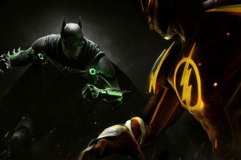 Wallpaper Batman And The Flash, Injustice 2, Dc Comics
