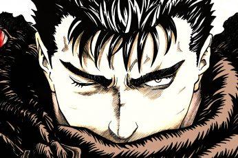 Wallpaper Berserk Guts Illustration, Anime, Kentaro Miura