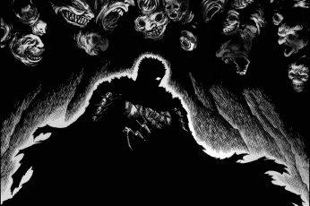 Wallpaper Berserk, Guts, Kentaro Miura, Monochrome