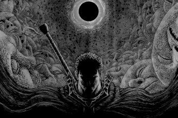 Wallpaper Berserk, Kentaro Miura, Guts, Manga, Pattern