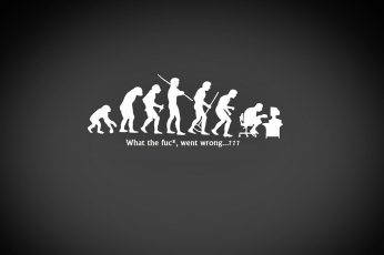 Wallpaper Black And White Dark Wtf Geek Funny Evolution