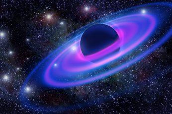 Wallpaper Black Hole Illustration, Planet, Galaxy, Univers