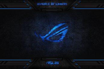 Wallpaper Blue Asus Alienware Poster, Rog, Republic, Gamer