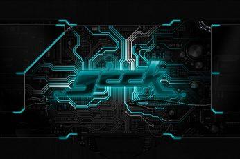 Wallpaper Board, Chip, Circuit, Geek, Neon