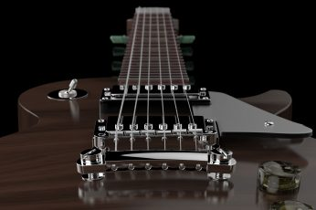 Wallpaper Brown Electric Guitar, Les Paul, Hard Rock, Rock