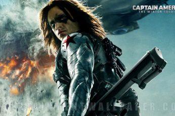 Wallpaper Captain America Bucky Barnes, Captain America
