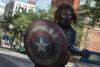 Wallpaper Captain America Marvel The Winter Soldier Shield