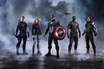 Wallpaper Captain America, Scarlett Johansson, Heroes