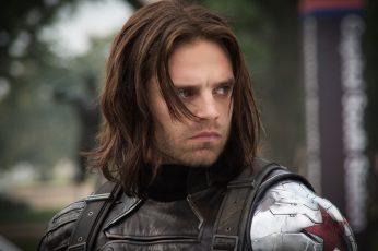 Wallpaper Captain America The Winter Soldier, Bucky Barners