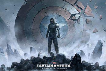Wallpaper Captain America The Winter Soldier Illustration