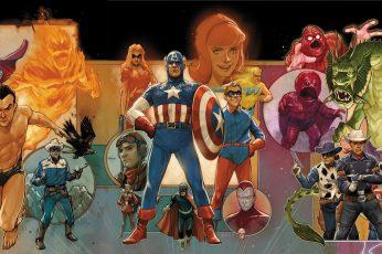 Wallpaper Comics, Marvel Comics, Bucky Barnes, Captain