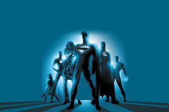 Dc Comic Superheroes Digital Wallpaper, Justice