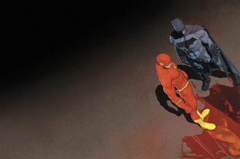 Dc The Flash And Batman Digital Wallpaper
