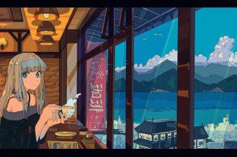 Wallpaper Digital Art, Artwork, Anime Girls, Interior, Room