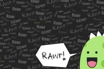 Wallpaper Dinos Go Rawr, Rawr Text, Green Dino, Scene, Cute