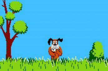 Duck Hunt Game Wallpaper, 8 Bit, Nintendo