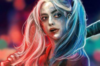 Wallpaper Face, Dc Comics, Harley Quinn, Suicide Squad