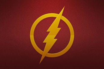 Wallpaper Flash Logo, Dc Comics, The Flash, Superhero