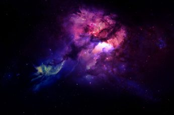 Galaxy Digital Wallpaper, Space, Nebula, Space Art
