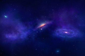 Wallpaper Galaxy Illustration, Digital Art, Universe, Space