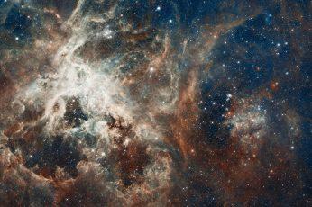 Wallpaper Galaxy Illustration, Nebula, Constellation, Gold
