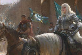Wallpaper Game Application, Horse, Fantasy Art, Warrior