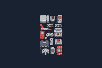 Wallpaper Game Consoles Illustration, Video Games, Nintendo