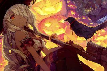 Wallpaper Halloween, Anime, Fan Art, Jack O Lantern, Pumpkin