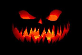 Wallpaper Happy Halloween, Black Jack O Lantern