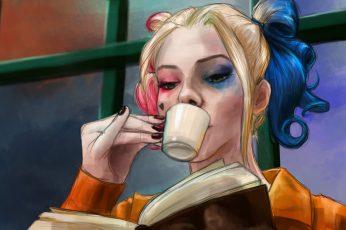 Wallpaper Harley Quinn Illustration, Suicide Squad, Dc