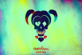 Wallpaper Harley Quinn Logo, Movie, Suicide Squad