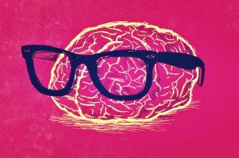 Wallpaper Humor, Brain, Geek, Nerd, Red