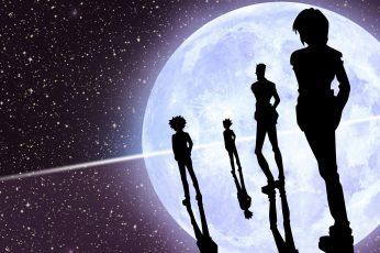 Wallpaper Hunter X Hunter, Anime, Silhouette, Stars