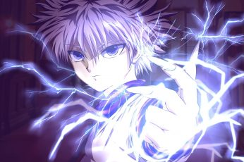 Wallpaper Hunter X Hunter, Killua Zoldyck, Anime, Bolts