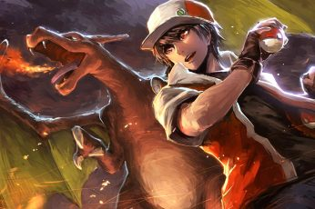 Wallpaper Illustration Of Pokemons Charizard, Pokémon