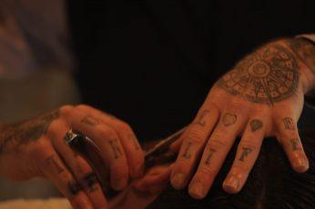 Wallpaper Ireland, Cork City, Hands, Razor, Barber, Tattos
