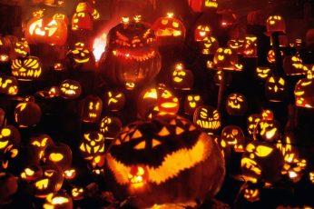 Jack O Lantern 3d Wallpaper, Halloween, Pumpkin