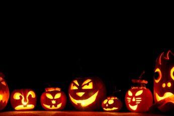 Jack O Lantern Digital Wallpaper, Pumpkin