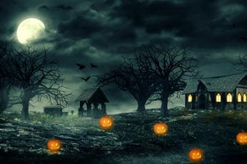 Wallpaper Jack O Lantern, Halloween, Darkness, Twilight