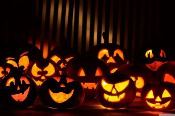 Wallpaper Jack O Lantern Lot, Halloween, Food And Drink