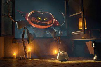 Jack o Lantern Digital Wallpaper, Halloween