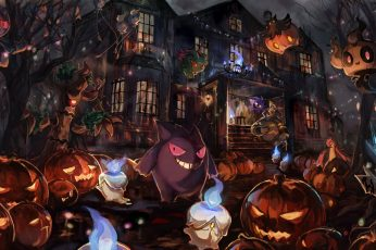 Jack o Lanterns Wallpaper, Pokémon, Halloween